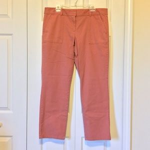 Loft Coral/Peach Ankle Pants Size 14